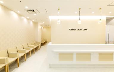 白を基調とした清潔感溢れる空間