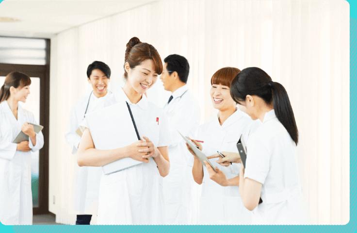 受付も専門スタッフも医師も、チームワークが大切!